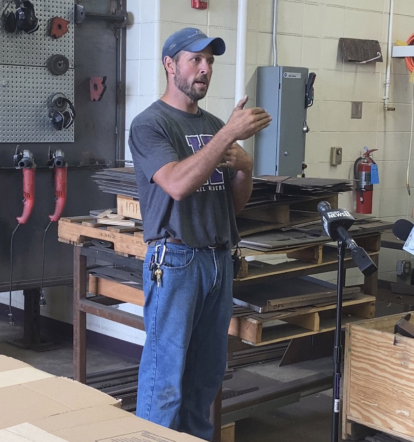 Kiel High School Technical Education and Welding Instructor Ron Schneider explains how students will gain the opportunity to secure high-paying, local jobs.